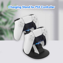 Acessórios de máquina eletrônica dual game controller charger dock de carregamento para sony ps5 joystick gamepad