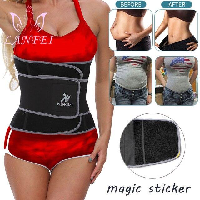 LANFEI Slimming Women Waist Trainer Neoprene Belt Sauna Sweat Body Shaper Tummy Control Cincher Corset Fajas Sport Fitness Strap 2