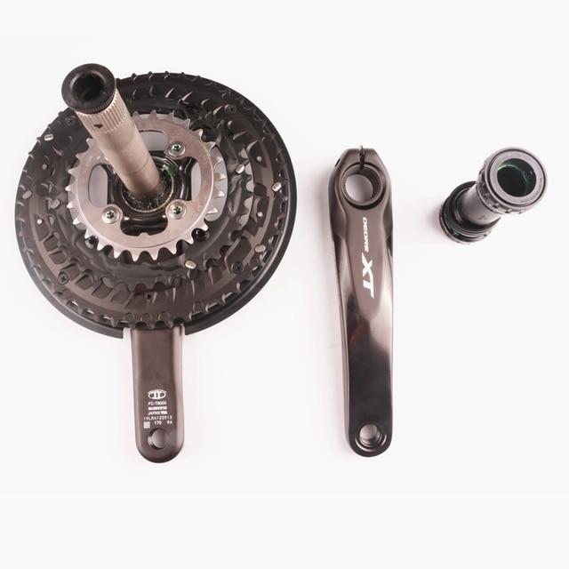 Shimano DEORE XT T8000 3x10 속도 크랭크 셋 MTB 자전거 자전거 HOLLOWTECH II 170 48-36-26T MT800 자전거 부품이있는 30 속도 크랭크