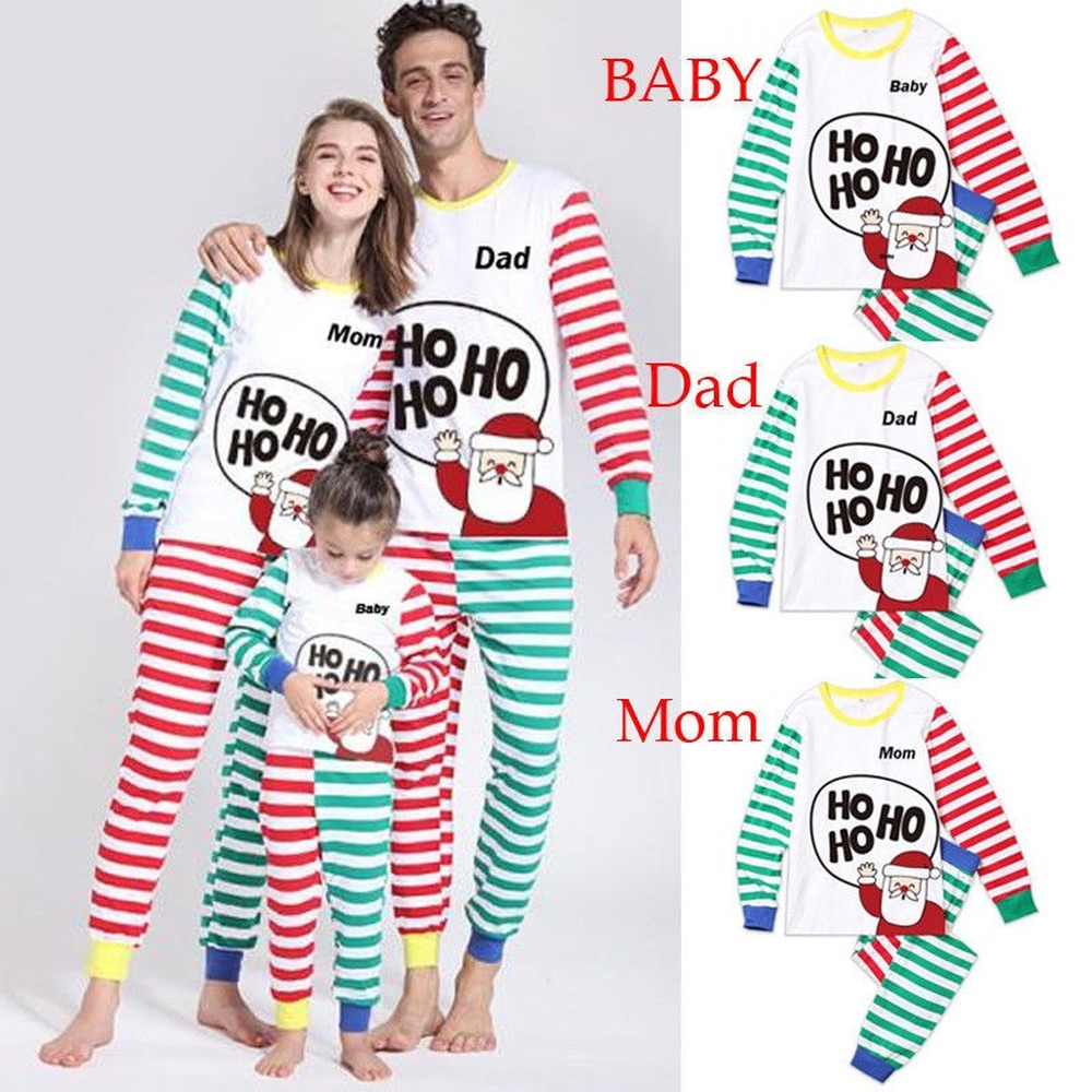 Family Matching Christmas Pajamas Set Xmas Women Man Baby Kids Hooded Sleepwear Nightwear 2019 Fashion New Year's Cute PJS Set