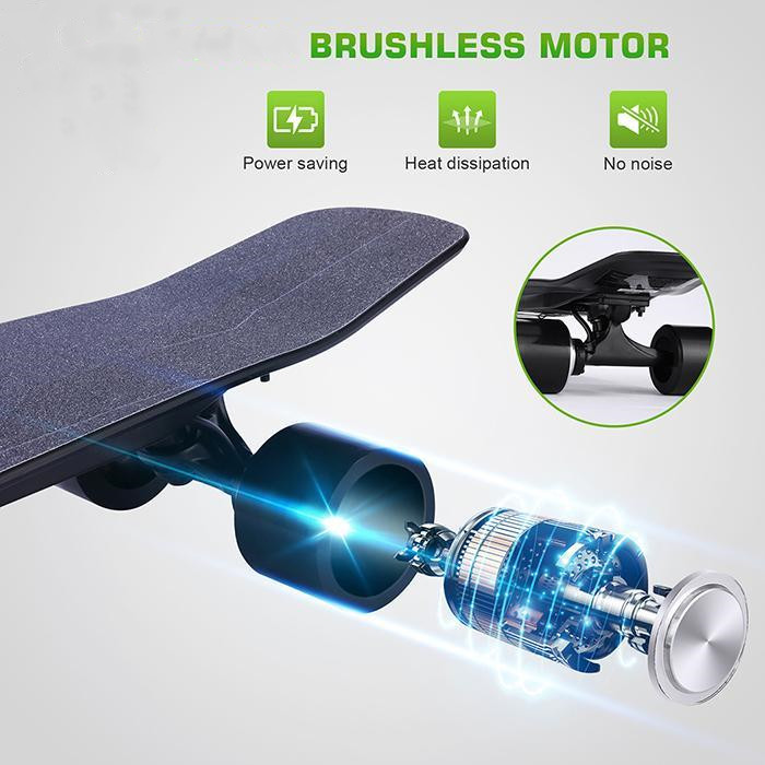 Electric Skateboard 10 MPH Top Speed 350W 8 Miles Max Range with Remote Control 27.6x7.1x5.5inch 3