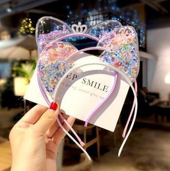 Bonitas orejas de gato, diadema para niñas, diademas coreanas para niños, Princesa, accesorios para el cabello, Scrunchie, regalo de Navidad