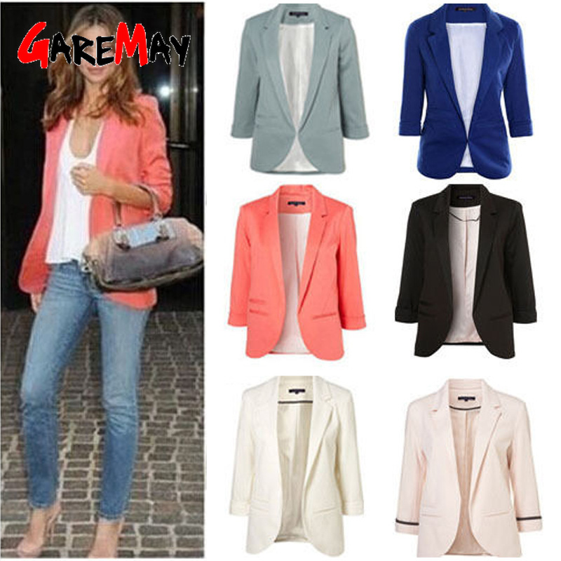 2019 Spring Autumn Ladies Blazer Long Sleeve Women Blazers And Jackets High Quality Office Lady Feminine Blazer Femme Red Black