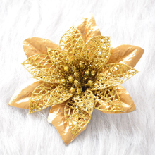 цены Christmas Artificial Hollow Flower Glitter Tree Ornaments Wedding Flowers Valentine's Day Decoration Simulation Flowers for Home