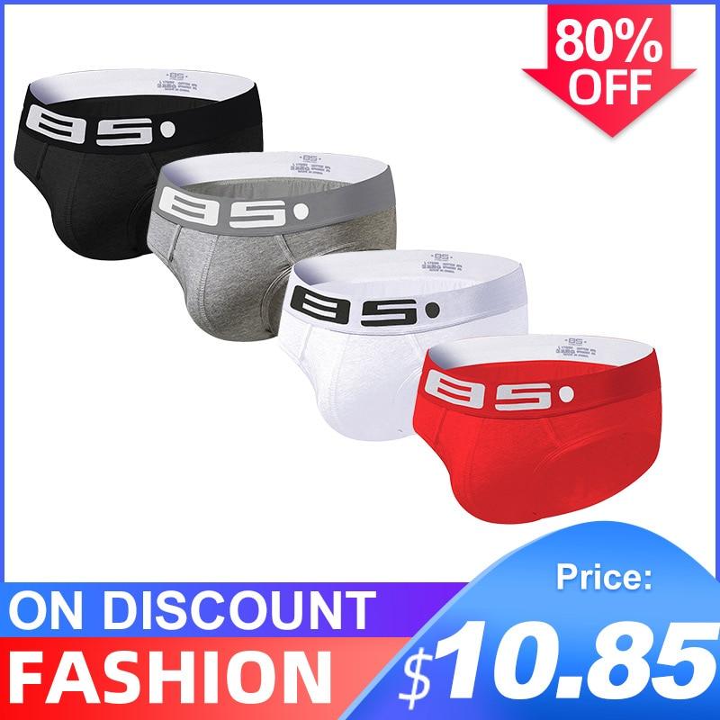 4Pcs/lot High Quality Cotton Soft Sexy Undenwear Men Jockstrap Briefs Male UnderwearBikini Gay Men Underwear Male Jock Strap