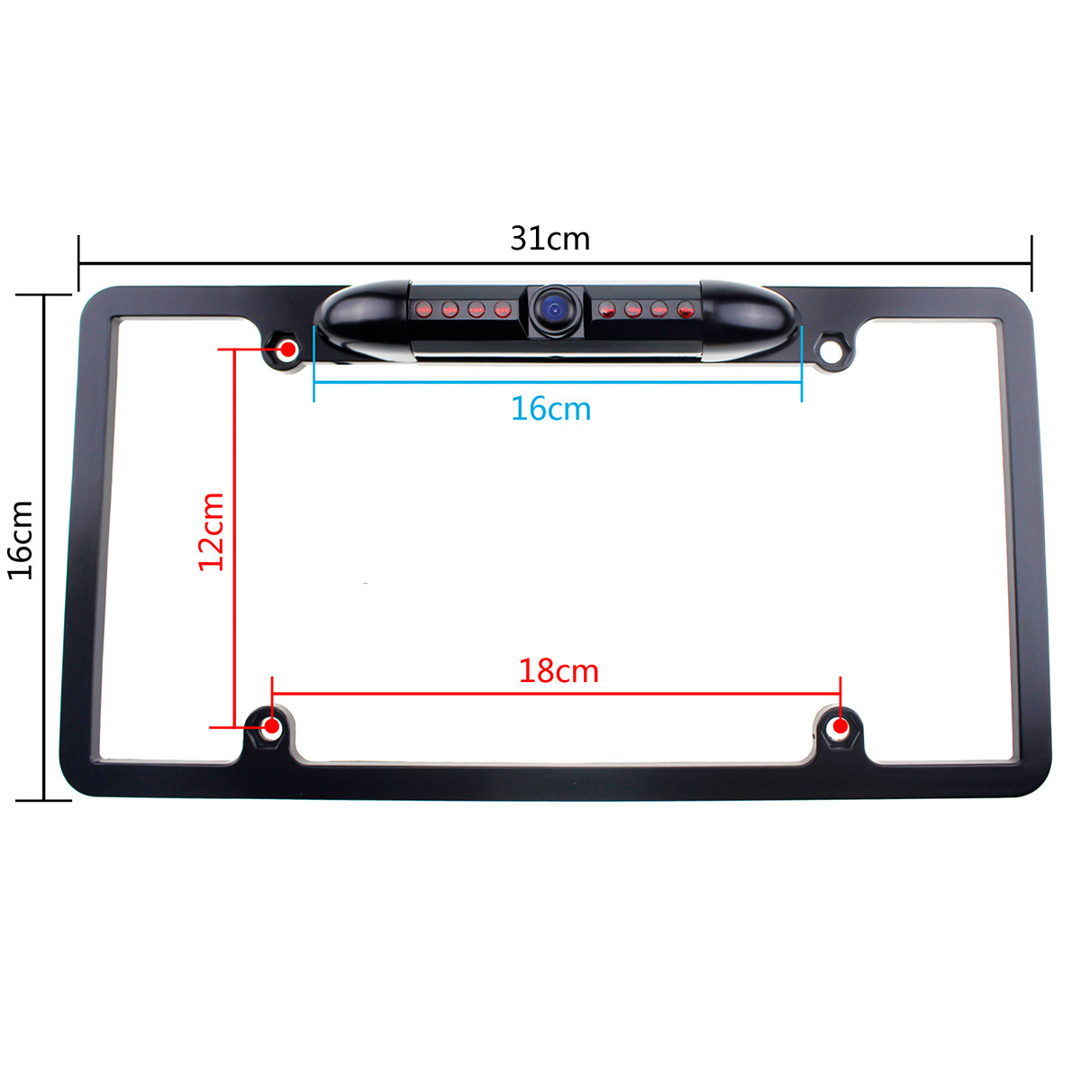 Wholesale American-Style License Plate Rear View Webcam Frame-OEM With Night Vision Car Reversing Camera 170 Large Wide-angle