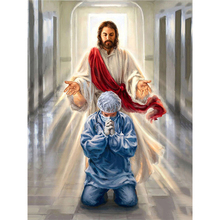 FSBCGT Jesus And The Doctor DIY Oil Painting Paint By Numbers Acrylic Paints Drawing On Canvas Kits Wall Art HandPainted