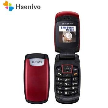 C260 Original Unlocked Flip C260 Samsung Guru1310 Mobile phone 1.5 inch'  No Camera Loudspeaker Cell Phone Free Shipping