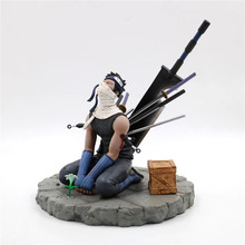 Anime Naruto Momochi Zabuza hayalet kesim Broadsword gözyaşları son Ver. PVC aksiyon figürü Kakashi Fighter koleksiyonu modeli hediye 19cm