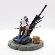 Larme large, coupe fantôme, dessin animé Naruto Momochi Zabuza, larmes avec fin Figurine de combat Kakashi en PVC, modèle de Collection de combattants, 19cm, cadeau