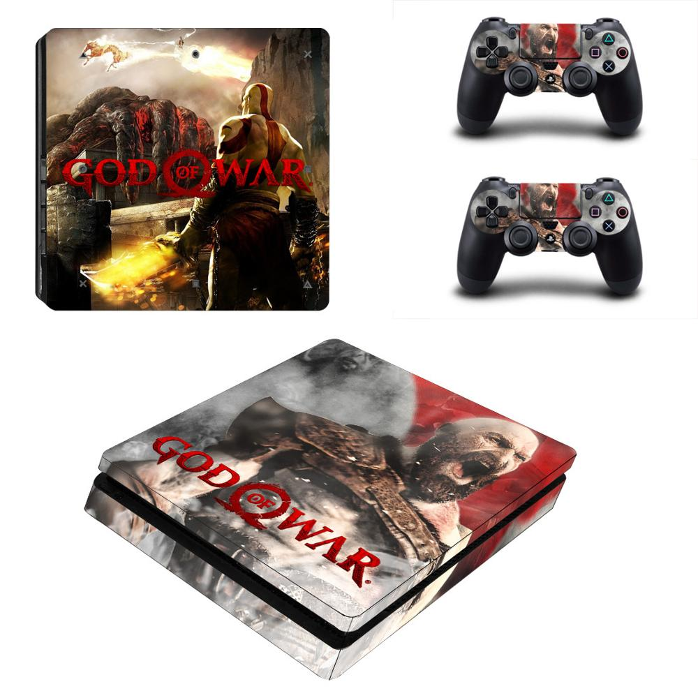 God of War PS4 Slim Stickers Play station 4 Skin Sticker Decals For PlayStation 4 PS4 Slim Console and Controller Skin Vinyl image