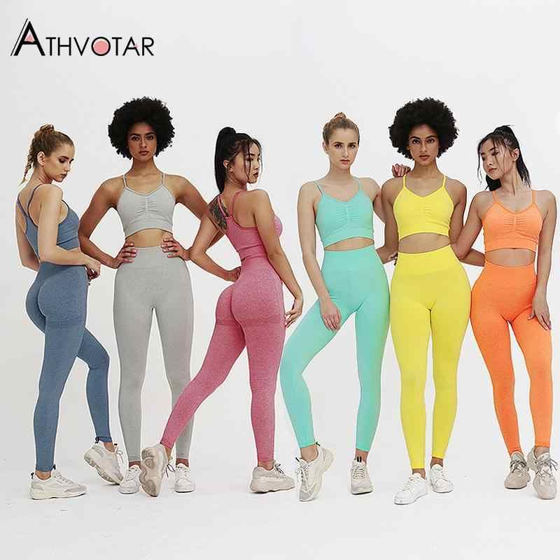 Solid Trainingspak Set Vrouwen Hoge Elastische Naadloze Tweedelige Sets Vrouwen Gym Sportbeha En Leggings Outfits Voor Vrouwen
