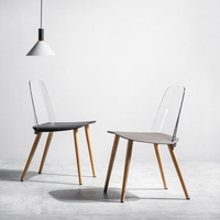Modern Creative Restaurant Dining Chair Restaurant Office Meeting Transparent Chair Home Study Learning Creative Lounge Chair