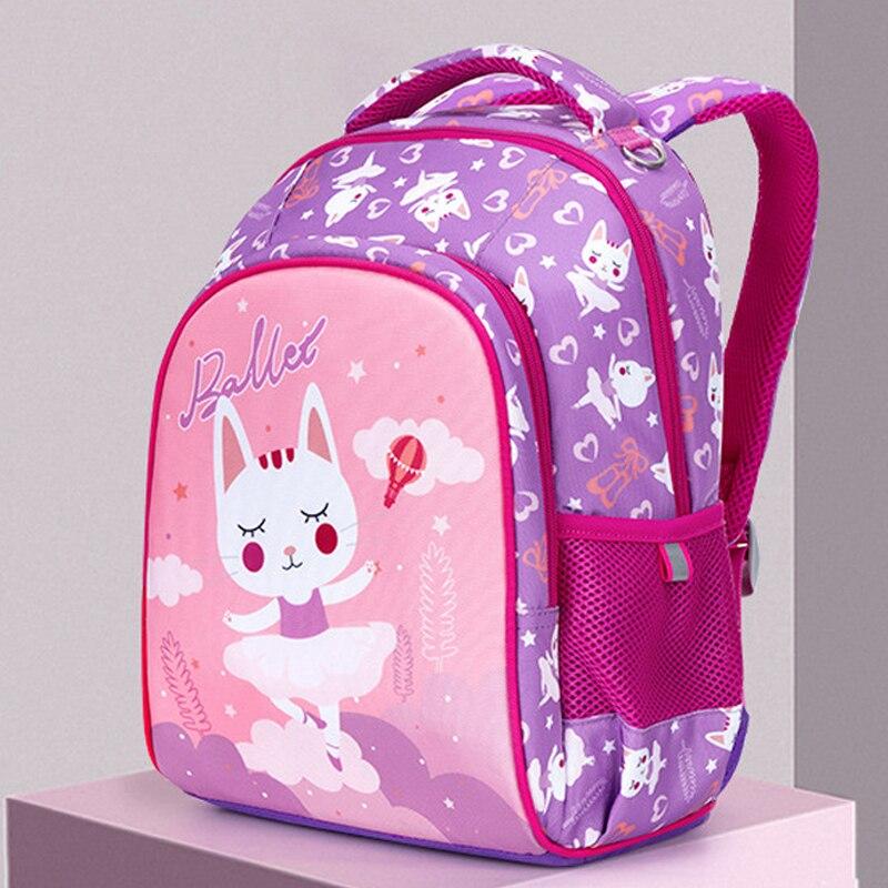 Новинка, 3D мультяшная школьная сумка для девочек и мальчиков, ортопедический рюкзак с рисунком кота и медведя, детские школьные сумки, Студенческая сумка, класс 1 4|Школьные ранцы| | АлиЭкспресс