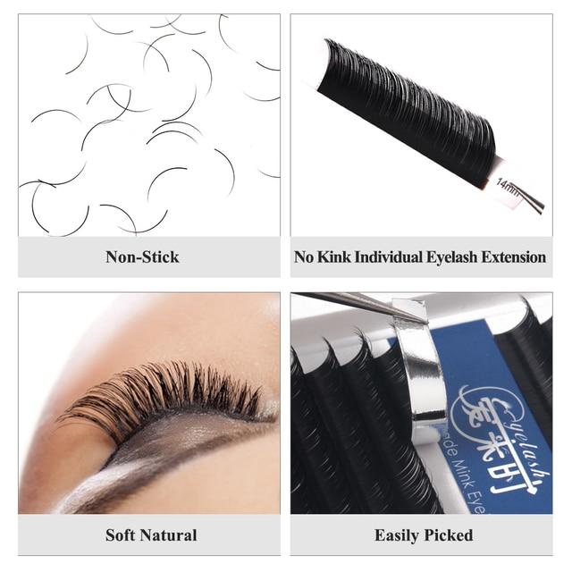 NEWCOME 16Rows Individual Eyelash Extension 0.03-0.25 Volume Eyelash Extension BCD Eyelashes Handmade Lashes Professional Makeup 5