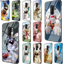Get more info on the EWAU Lapin Cretin Rayman Raving Rabbids Tempered Glass phone case for Samsung S7 S8 S9 S10 Note 8 9 10 plus A10 20 30 40 50 60 70
