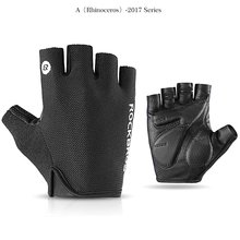 1Pair Cycling Gloves Half Finger Shockproof Breathable MTB Mountain Bicycle Men Sports Anti-slip Bike Glove