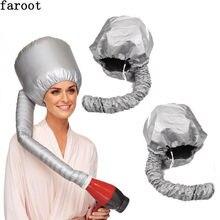 Nylon Cap Secadores de Cabelo Touca de banho Portátil Macio da Capota Chapéu Capô Secador de cabelo Anexo Curlformers Cinza Creme de Cabelo Seco Cap