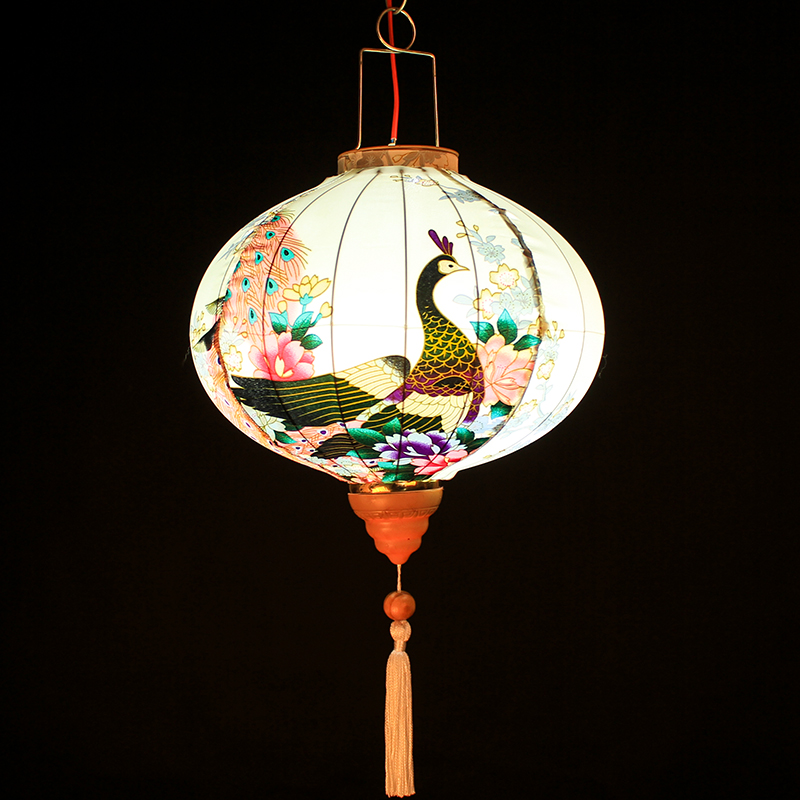 New Year Lantern Ornaments Creative Lighting Balcony Chinese Outdoor Antique Japanese Peacock Phoenix Chinese Style Decoration