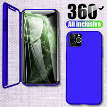 360 Full protective Cover Phone Case For iPhone 11ProMax 6 6S 8 7 Plus PC Coque Capa For iPhone XR 5S X XS Max SE2020 hard Cover samsung cartoon huawei cable accessories protective cover for iphone 6 7 8 plus x batman cable bite protective cover
