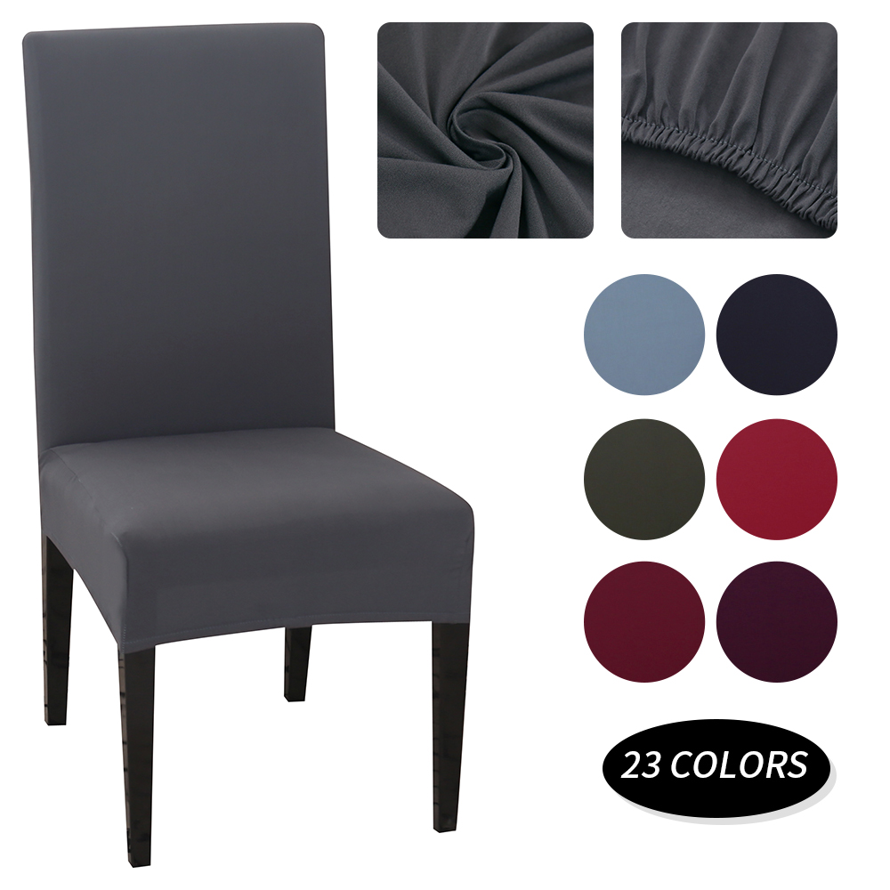 1/2/4/6PCS Solid Color Chair Cover Spandex Stretch Elastic Slipcovers Dining Room Chair Covers For Banquet Hotel Kitchen Wedding