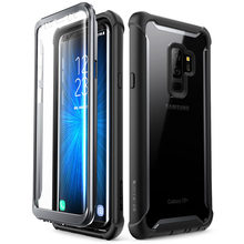 I BLASON For Samsung Galaxy S9 Plus Case 2018 Release Ares Full Body Rugged Clear Bumper Case with Built in Screen Protector