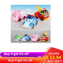 1Pcs Original Poli Robocar Toys 10cm Korea Inertial Car Children Transformation Action Figure for Kids Gift