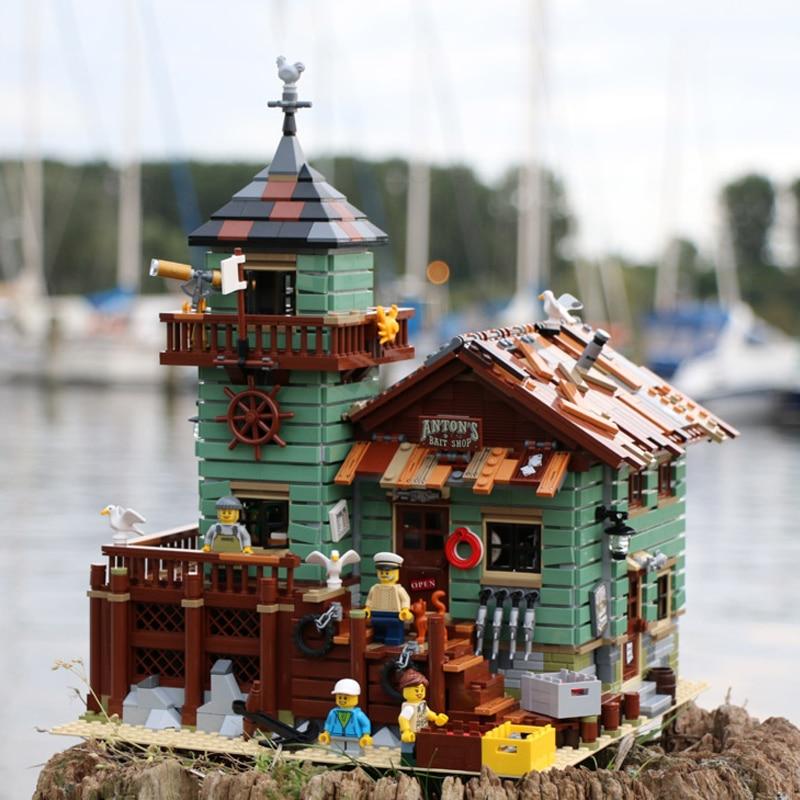 Lepinblocks 16050 Die Alte Fishing Shop legoinglys Stadt Creator Street View MOC Modell Bausteine Kompatibel mit 21310