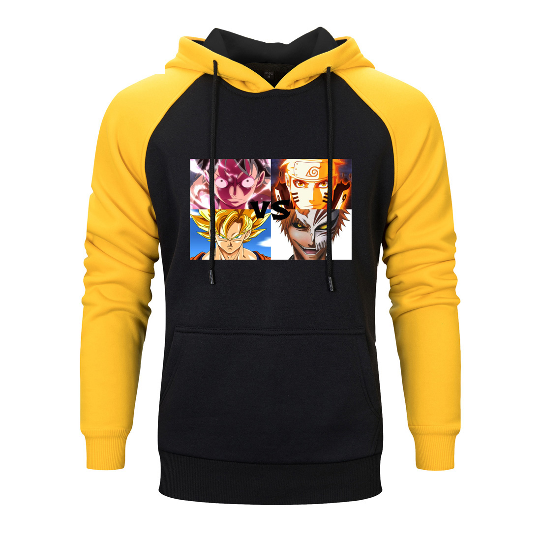 Super Cartoon Naruto Raglan Hoodie 2020  Japan Anime Sweatshirts Men One Piece Dragon Ball Cartoon Bleach Hoody Streetwear Coats
