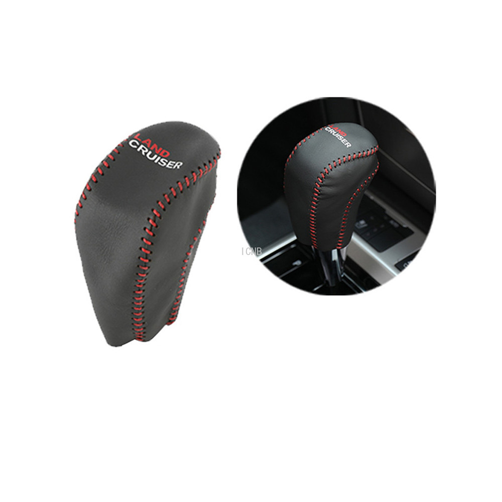 Image 4 - Automatic Leather Gear Hand Brake Cover for Toyota Land Cruiser 200 LC200 2008 2009 2010 2011 2012 2013 2014 2015 2016 2017 2018-in Chromium Styling from Automobiles & Motorcycles