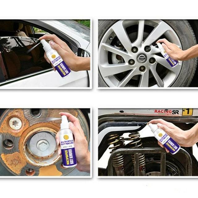100ml Rust Inhibitor Rust Remover Window Wheel Hub Screw Derusting Spray Car Maintenance Cleaning 3