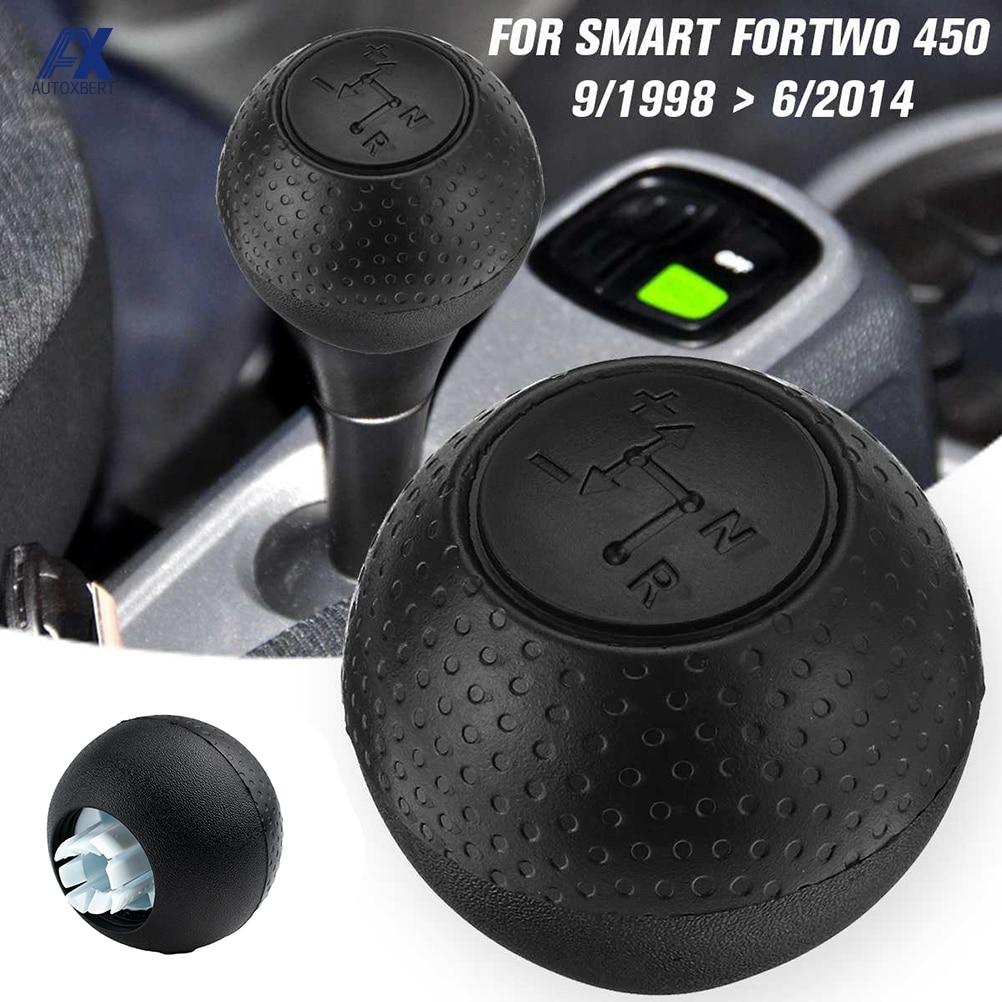 Car Automatic Gear Shift Knob Shifter Stick Lever Pen Hand Ball Plastic For Mercedes Smart Fortwo 450 1998-2014 Black