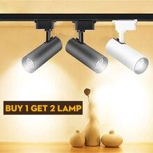Регулируемые светодиодные фары Трек свет 220 в 30 Вт точечный свет 0,5 м алюминиевая дорожка для домашнего магазина галерея кухонное освещение