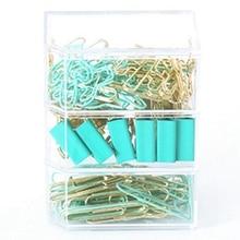 Combination Stationery Set, Purse Clip, Paper Clip, Paper Clip, 3 Compartments, Clip, Office Supplies