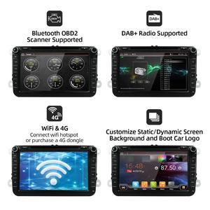 Image 2 - Android 10 Auto DVD player GPS Navigation Auto Radio Für Volkswag/Golf/Tiguan/Skoda/Sitz/altea/Skoda Wifi Bluetooth Hinten Kamera 4G