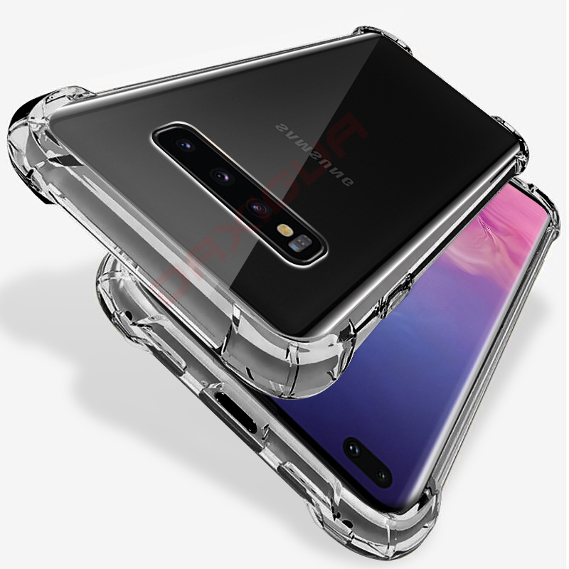 Clear <font><b>Shockproof</b></font> <font><b>Case</b></font> for <font><b>Samsung</b></font> Galaxy S10 Plus S10e S8 <font><b>S9</b></font> Plus Soft Silicone Phone <font><b>Cases</b></font> for <font><b>Samsung</b></font> Note 10 9 8 Back Cover image