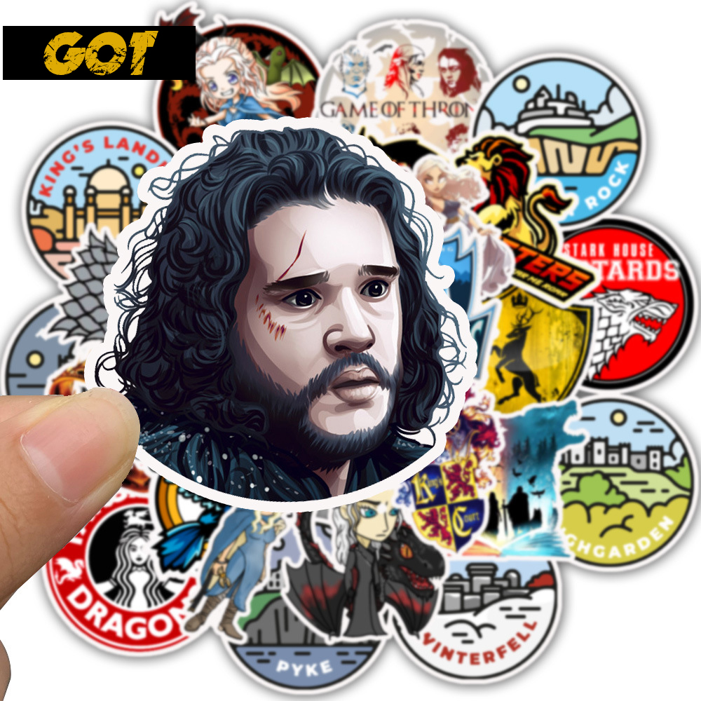 Vinyl Stickers Game Of Thrones 50pcs For Laptop Notebook Tablet Phone Skateboard Guitar Motorcycle Surface Pro Decals Sticker