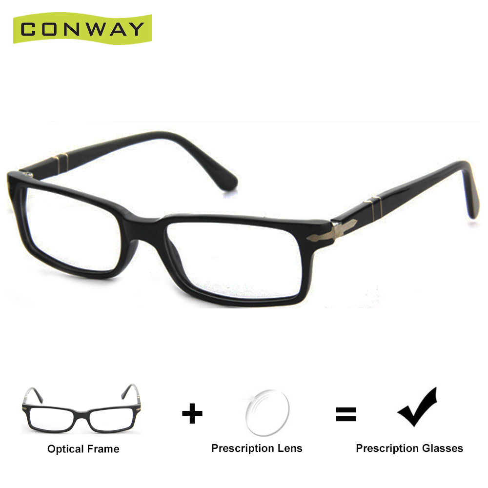 Conway Brand Design <font><b>Mens</b></font> <font><b>Prescription</b></font> <font><b>Glasses</b></font> Myopia Astigmia Hyperopia <font><b>Progressive</b></font> Reading <font><b>Glasses</b></font> Rectangular Flexible Arms image