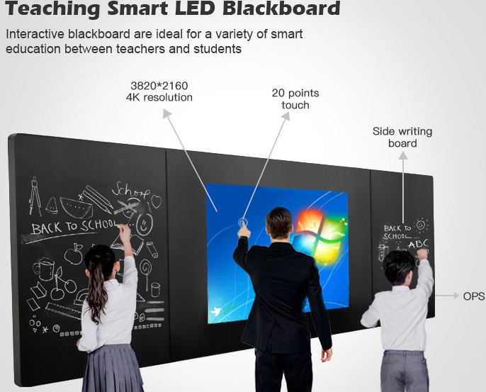 65 75 85inch All-in -one Smart Led Nano Interactive School Teaching Touch Screen Digital/electric Blackboard