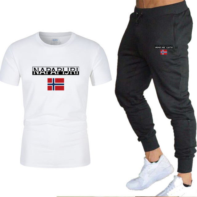 Men's sets t shirts + pants two pieces sets casual  1