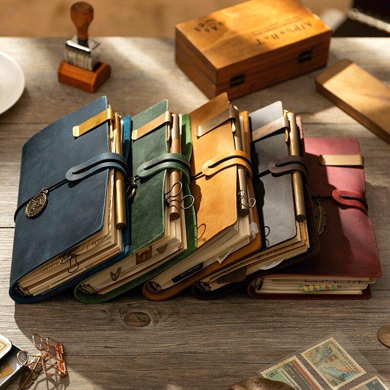 Дневник из натуральной кожи в стиле ретро