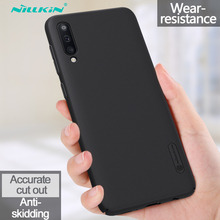 Nillkin Case For Samsung Galaxy A50 Frosted Shield Hard Anti-fingerprint shockproof Back Cover For Samsung Galaxy A50 Phone Case for samsung galaxy note8 fitted shockproof back cover anti skid anti fingerprint silicone soft black tpu phone case