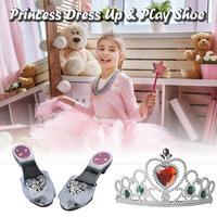 Принцесса одеваются играть обувь и ювелирные изделия бутик несколько модных аксессуаров принцесса Ювелирный Набор лучший подарок для дете...