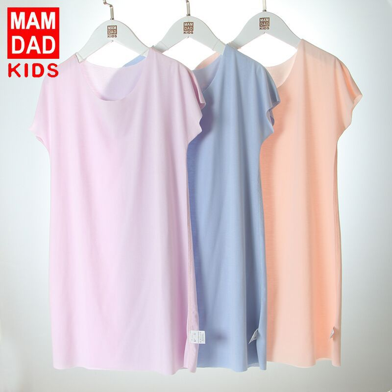 Modal Girl'S Nightgown Summer Strapped Dress Cooling Comfortable BAMAQIN CHILDREN'S Pajamas Summer Baby Girls Air Conditioning C