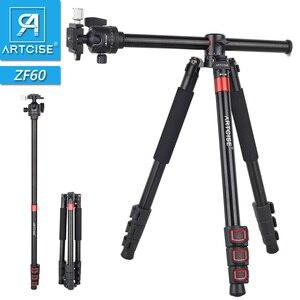 Профессиональный горизонтальный штатив ZF60 для камеры с более быстрой Защелкивающейся застежкой, максимальная подставка для камеры 63 дюйма...