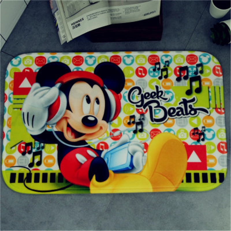 Disney cartoon mat Mickey Minnie children carpet super soft sponge absorbent pad bathroom mat Kitchen bedroom living room