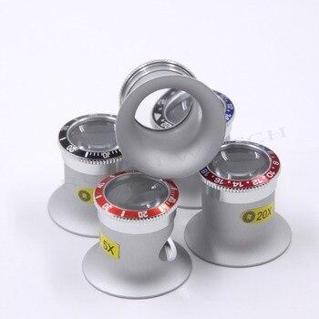 Qualità Premium 3X/5X/10X/20X Collezionisti di Orologi Occhio Lente di Ingrandimento Loupe RLX SubMariner e GMT Serie