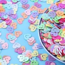10g kawaii sorriso coração solto lantejoulas para artesanato fazendo paillettes diy glitter confetes unhas artes decoração acessórios 10mm