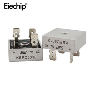 Image 2 - 5pcs/lot diode bridge KBPC5010 50A 1000V diode bridges rectifier KBPC 5010 power rectifier electronic componentes KBPC5010 diode