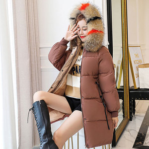 Image 5 - Winter Hooded Warm Down Coat Women Casual Long Down Jackets Ladies Thicken Cotton Parka Plus Size Outerwear Korean Harajuku Coat